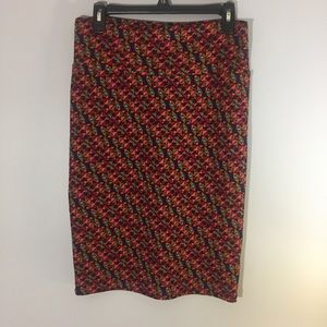 LulaRoe triangle pattern straight skirt